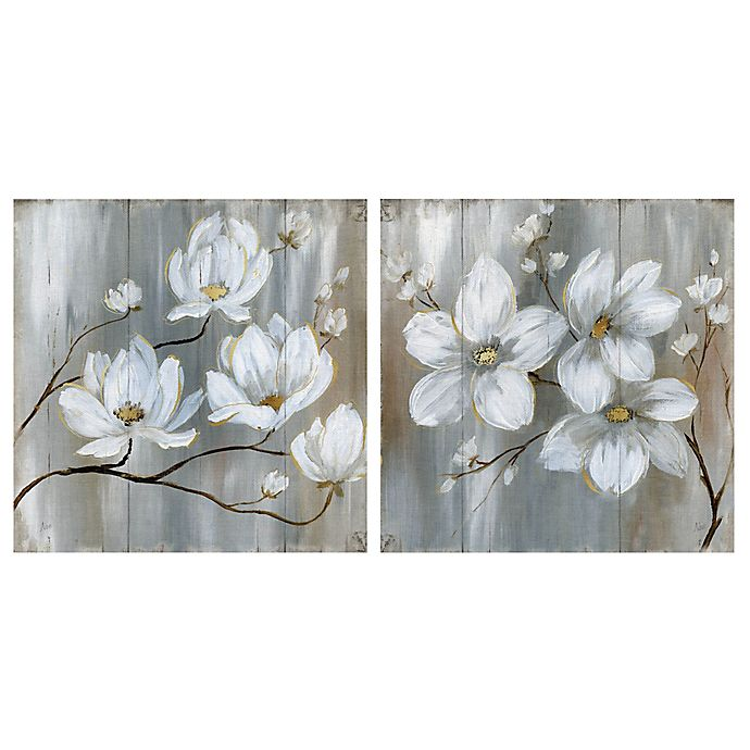 Alternate image 1 for Summer in Neutral I & II Square Canvas Wall Art (Set of 2)