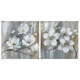 Summer in Neutral I & II Square Canvas Wall Art (Set of 2)