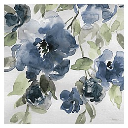 Belle's Blue I Indigo Square Canvas Wall Art