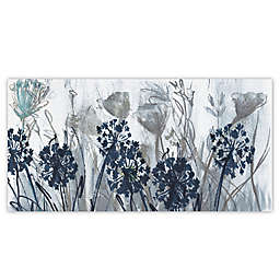 Indigo Field 48-Inch x 24-Inch Canvas Wall Art