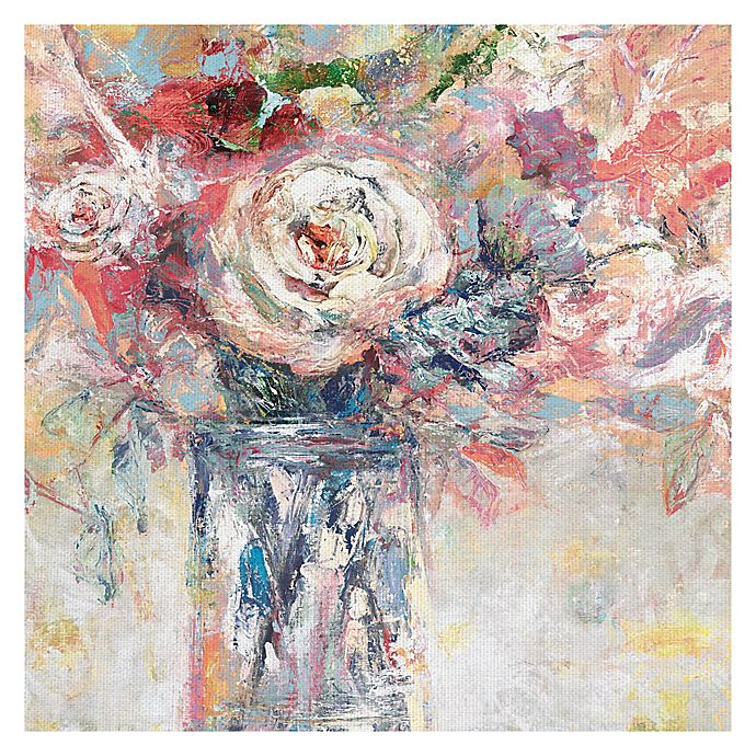 Alternate image 1 for Bright Flower 35-Inch SquareCanvas Wall Art
