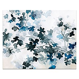Blue Cherry Blossoms Canvas Wall Art