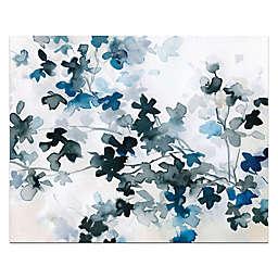 Blue Cherry Blossoms Canvas Wall Art