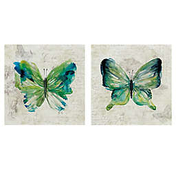 Butterfly Sketch I & II Canvas Wall Art (Set of 2)