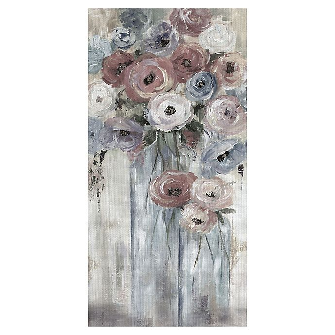 Alternate image 1 for Bottles and Blooms 12-Inch x 24-Inch Canvas Wall Art