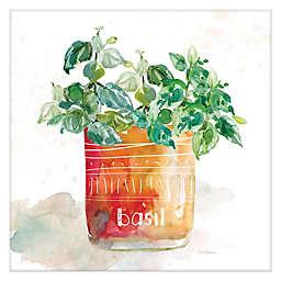 Carol Robinson Potted Basil 16-Inch Canvas Wall Art