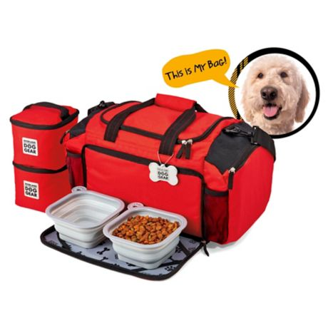 Overland Gear Ultimate Dog Travel Duffle Bag In Red Bed