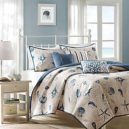 Madison Park Bayside Twin/Twin XL Coverlet Set in Blue