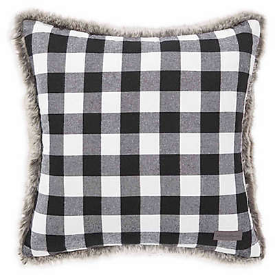 Eddie Bauer® Cabin Plaid Fur Throw Pillow