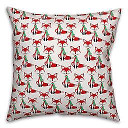 Designs Direct Mid-Century Modern Winter Fox Square Throw Pillow