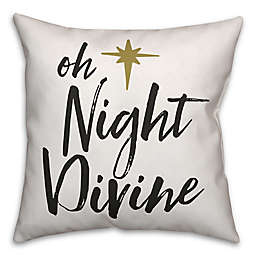 """Designs Direct """"Oh Night Divine"""" Square Throw Pillow"""