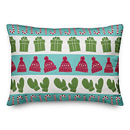 Designs Direct Candy Canes, Mittens, and Hat Oblong Throw Pillow