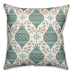 Designs Direct Ornament Square Throw Pillow in Green