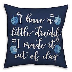 Designs Direct Dreidel Song Square Throw Pillow in Blue
