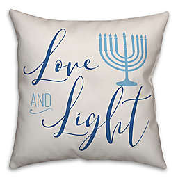 """Designs Direct """"Love and Light"""" Square Throw Pillow in Blue"""