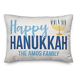 Designs Direct Hanukkah Menorah Oblong Square Throw Pillow in Blue
