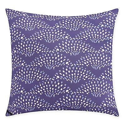Fan Dance Square Throw Pillow