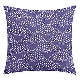 Fan Dance Square Throw Pillow in Purple