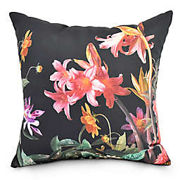 Color Me Floral Square Throw Pillow