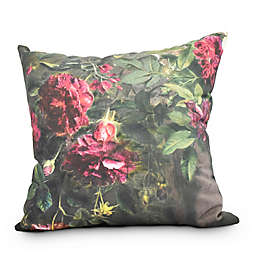 Blossoming Square Throw Pillow in Red
