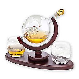 Godinger Globe 3-Piece Whiskey Decanter