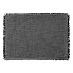Chambray Fringe Placemat in Black