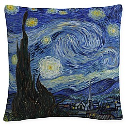 Trademark Fine Art Van Gogh Starry Night Square Throw Pillow