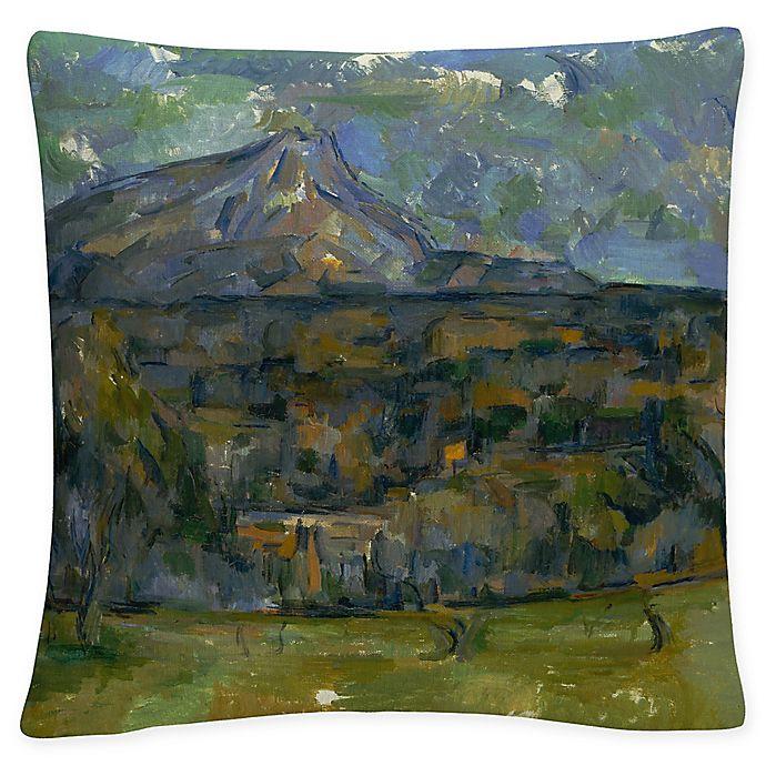 Alternate image 1 for Paul Cezanne Mont Sainte Victoire Square Throw Pillow