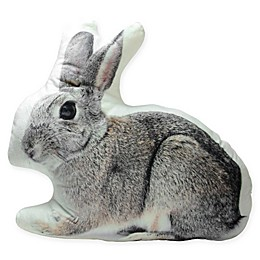 Northlight® Winter's Beauty Bunny Throw Pillow in Grey