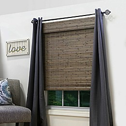 Farmhouse 64-Inch Length Cordless Bamboo Roman Shade in Distressed Driftwood