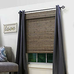 Radiance Brooklyn 64-Inch Length Cordless Bamboo Roman Shade in Driftwood