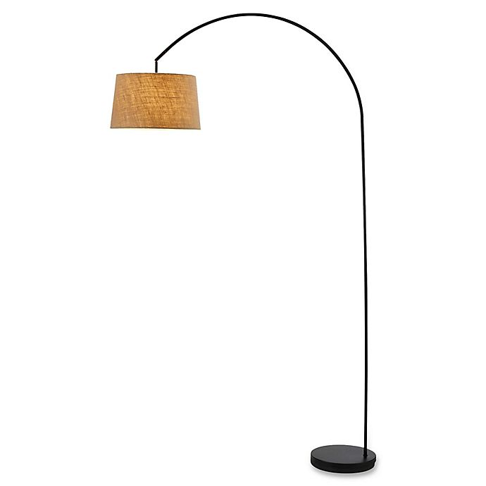 Alternate image 1 for Adesso Goliath Floor Lamp with Fabric Shade