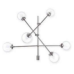 INK+IVY Cyrus 6-Light Chandelier in Silver