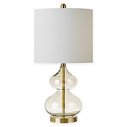 510 Design Ellipse Table Lamps in Gold with Fabric Shades (Set of 2)