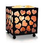 Himalayan Glow Heart Salt Basket Lamp By Wbm in Black/pink