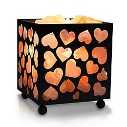 Himalayan Glow® Heart Salt Basket Lamp