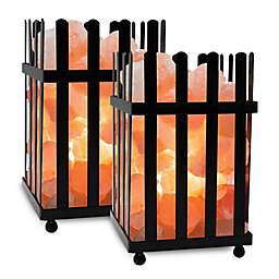 Himalayan Glow® Salt Basket Pillar Lamps (Set of 2)