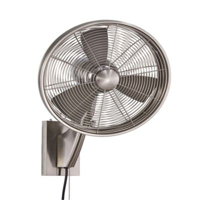 Minka-Aire Anywhere 15-Inch Wall Fan in Brushed Nickel