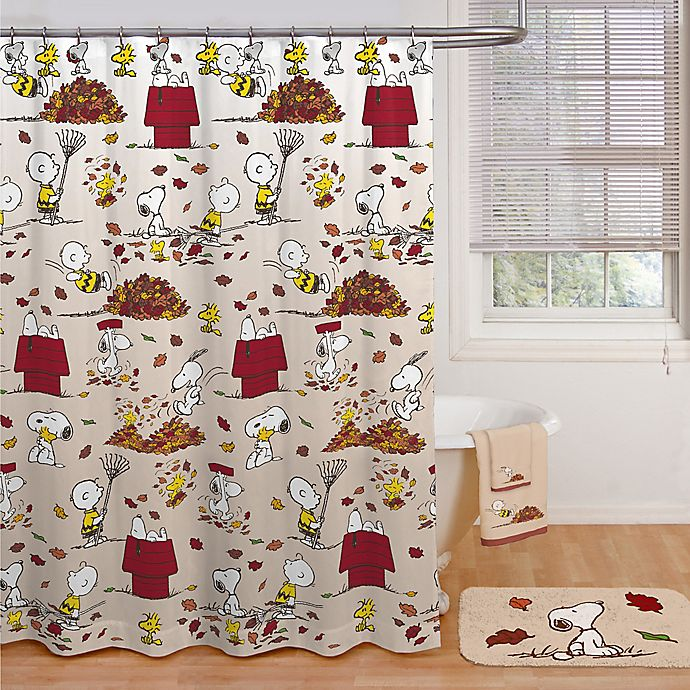 Bed Bath And Beyond Shower Curtain peanuts™ harvest shower curtain collection | bed bath & beyond
