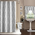 Horizons 72-Inch x 72-Inch Geometric Shower Curtain in Silver