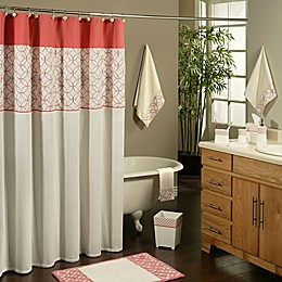 Sherry Kline Romance Shower Curtain in Orange/Pink