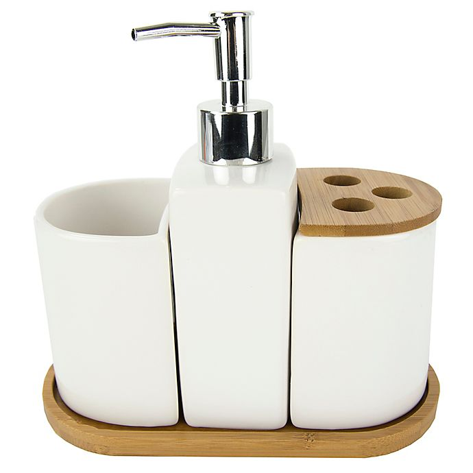 Alternate image 1 for Bamboo Accent 4-Piece Bath Set