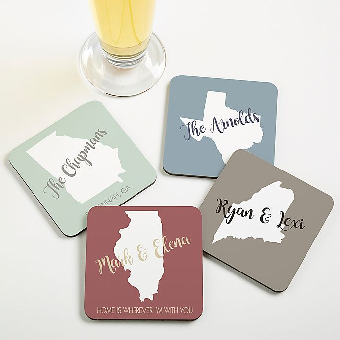 Alternate image 1 for State Pride Personalized Coaster