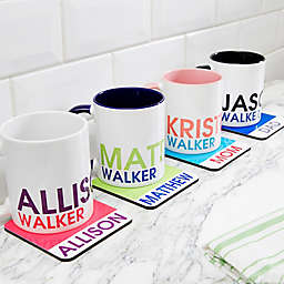 Bold Name Personalized Drink Coaster