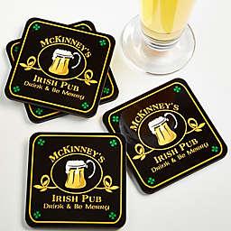 Old Irish Pub Personalized Coaster