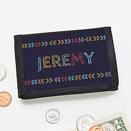 Personalized Stencil Name Wallet