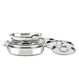 All-Clad D3 5 qt. Compact Stainless Steel 5-Piece Cookware Set