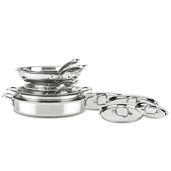 Alternate image 1 for All-Clad D3 Compact Stainless Steel 10-Piece Cookware Set