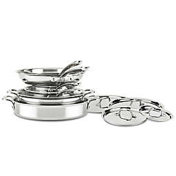 All-Clad D3 Compact Stainless Steel 10-Piece Cookware Set
