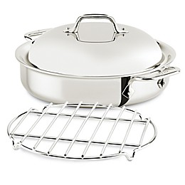 All-Clad D3 Compact 3 qt. Stainless Steel Steam & Sear Covered Sauteuse Pan